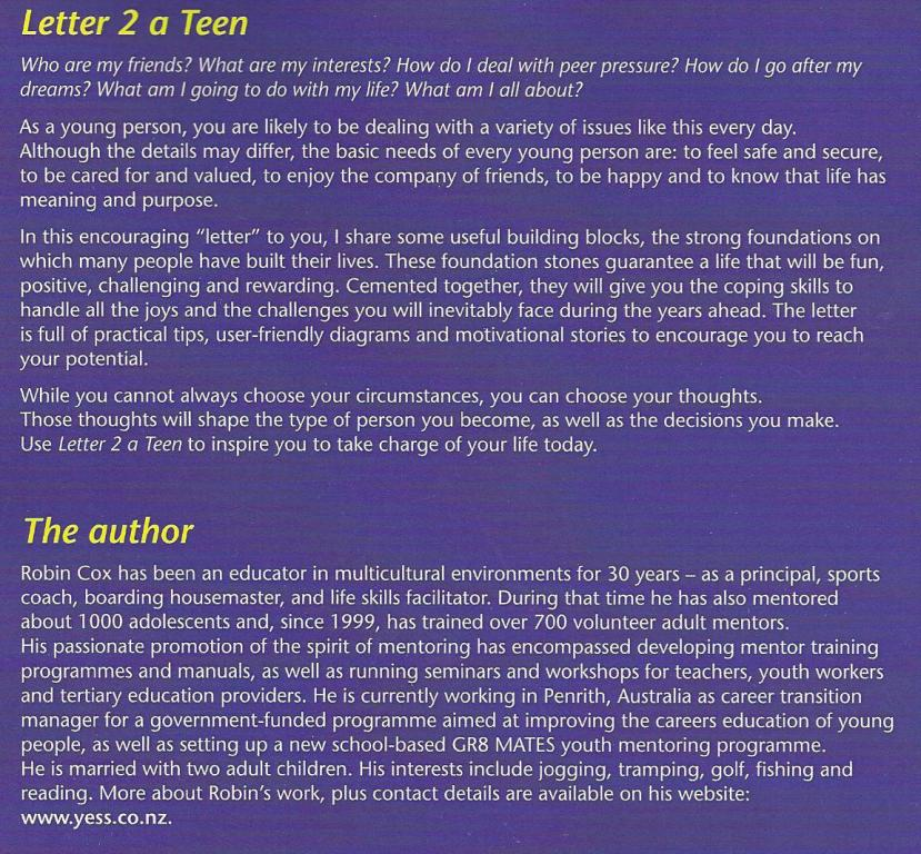 Letter 2 A Teen – Mentoring Matters Tips for encouraging